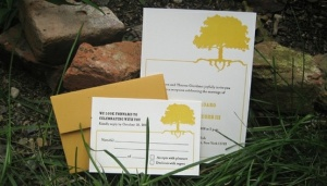 I love these letterpress invitations by Peacock Press in Baltimore (and the owner is wicked cool!).
